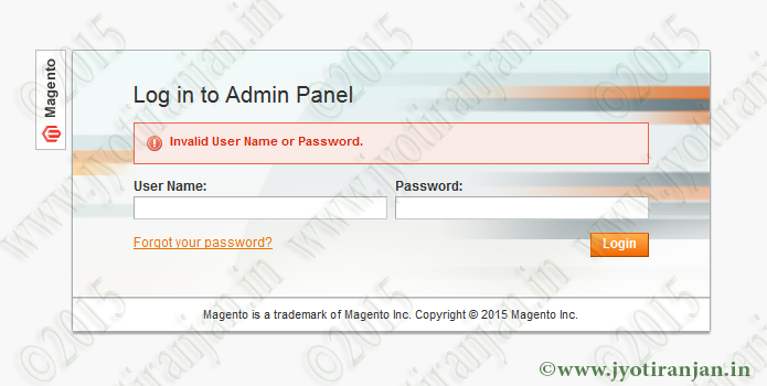 Unable to login magento admin panel
