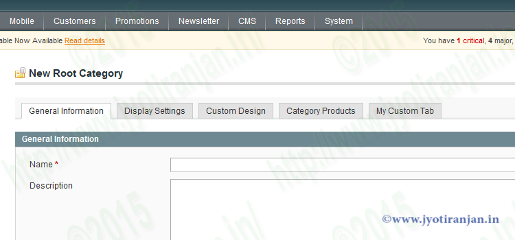 Magento custom tab of category edit page