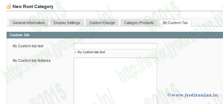 Magento custom tab of category edit page with custom attribute