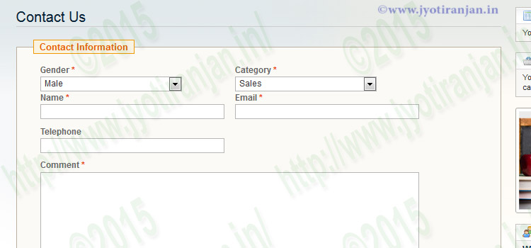 how to add a contact us form in magento