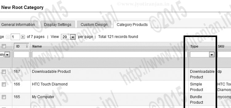 add product attribute as column to category products section